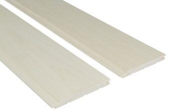 Csomómentes fehér nyárfa szauna lambéria 145mm széles
